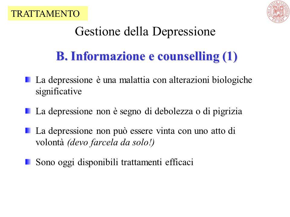 Gestione della Depressione B. Informazione e counselling (1)