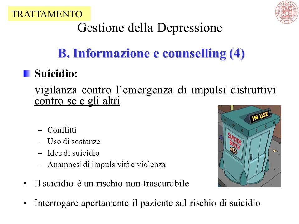 Gestione della Depressione B. Informazione e counselling (4)