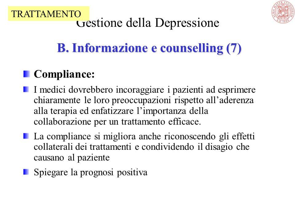 Gestione della Depressione B. Informazione e counselling (7)