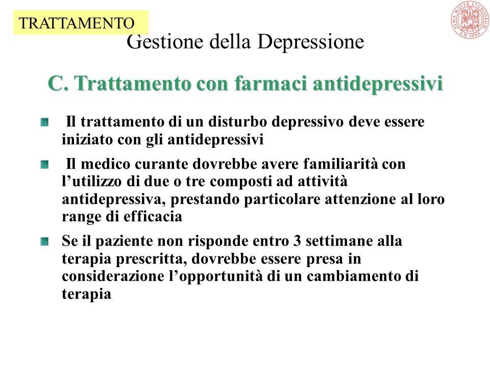 Gestione della Depressione C. Trattamento con farmaci antidepressivi
