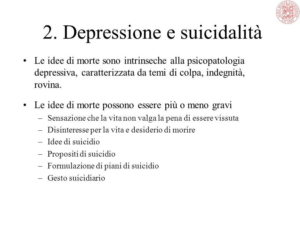2. Depressione e suicidalità