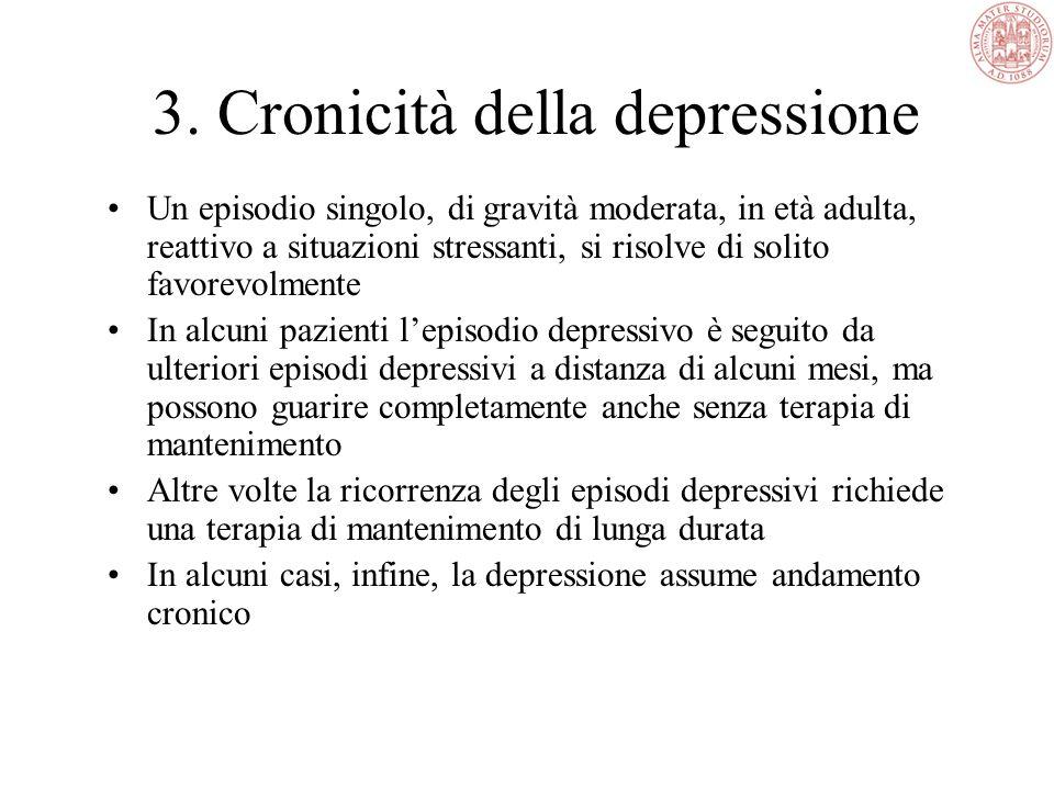 3. Cronicità della depressione