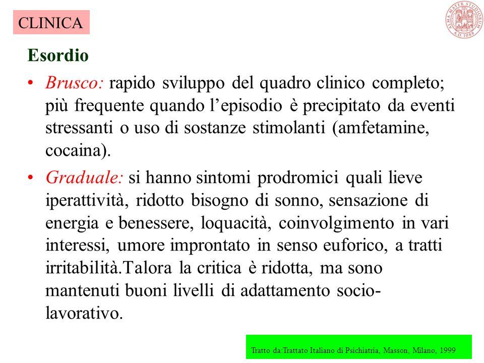 CLINICA Esordio.