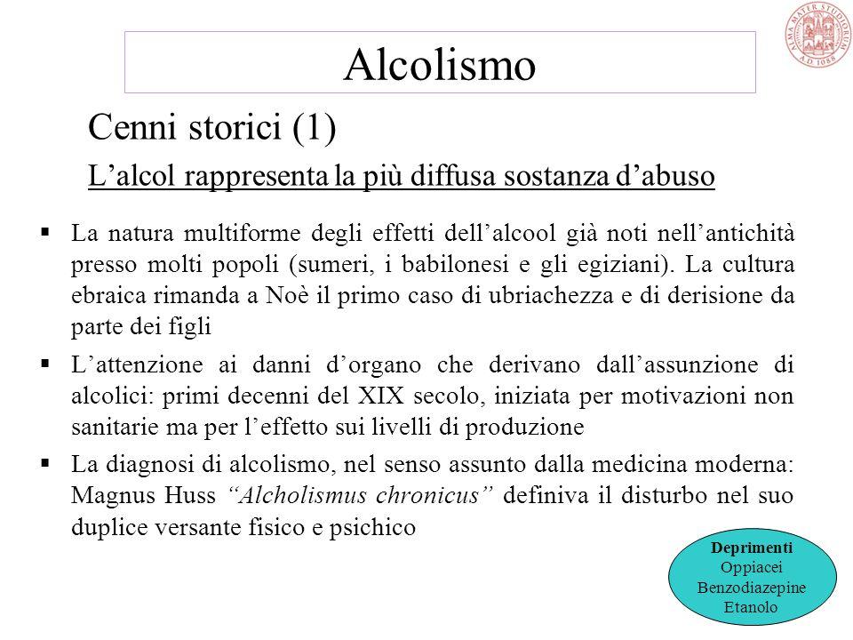 Alcolismo Cenni storici (1)