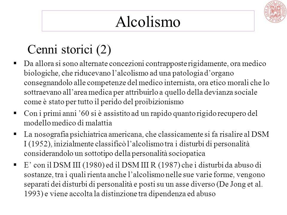 Alcolismo Cenni storici (2)