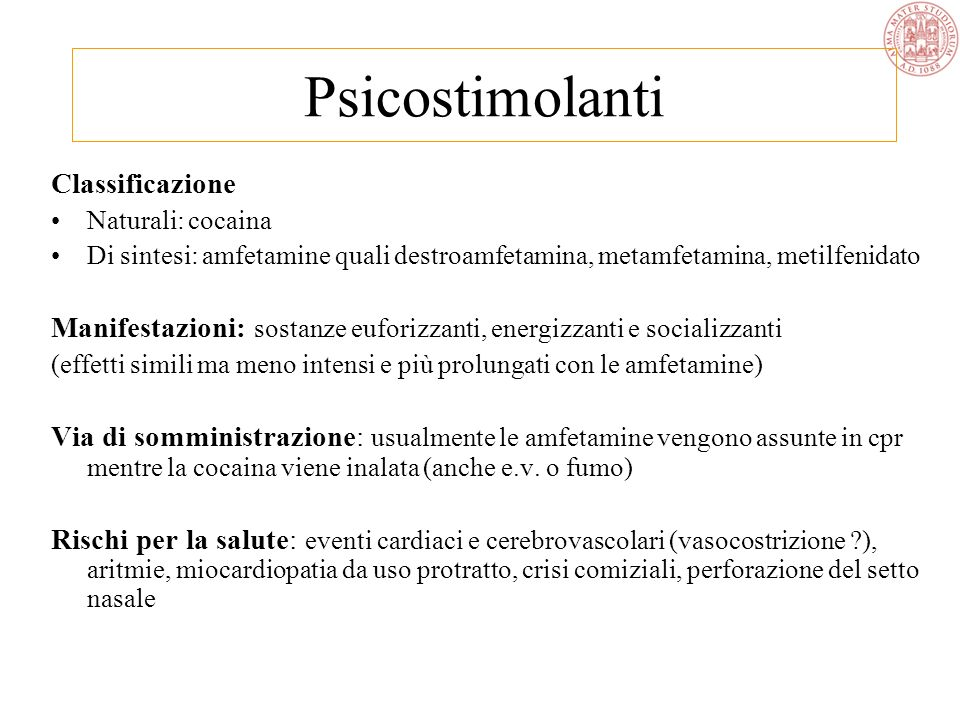Psicostimolanti Classificazione