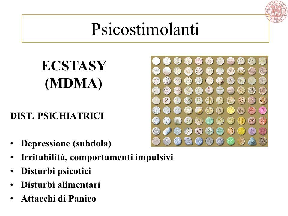 Psicostimolanti ECSTASY (MDMA) DIST. PSICHIATRICI