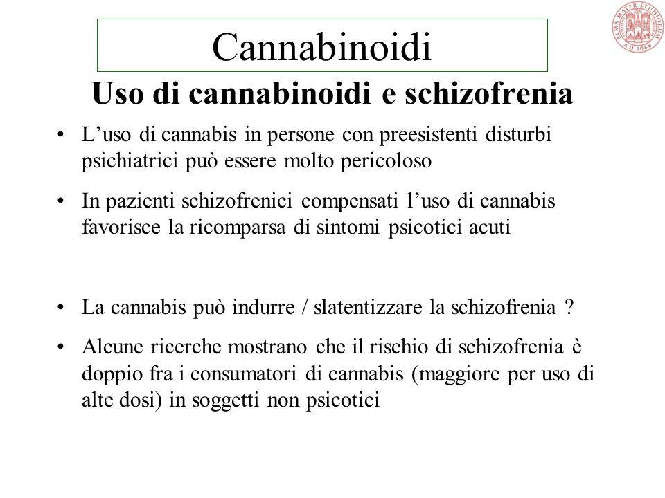 Uso di cannabinoidi e schizofrenia