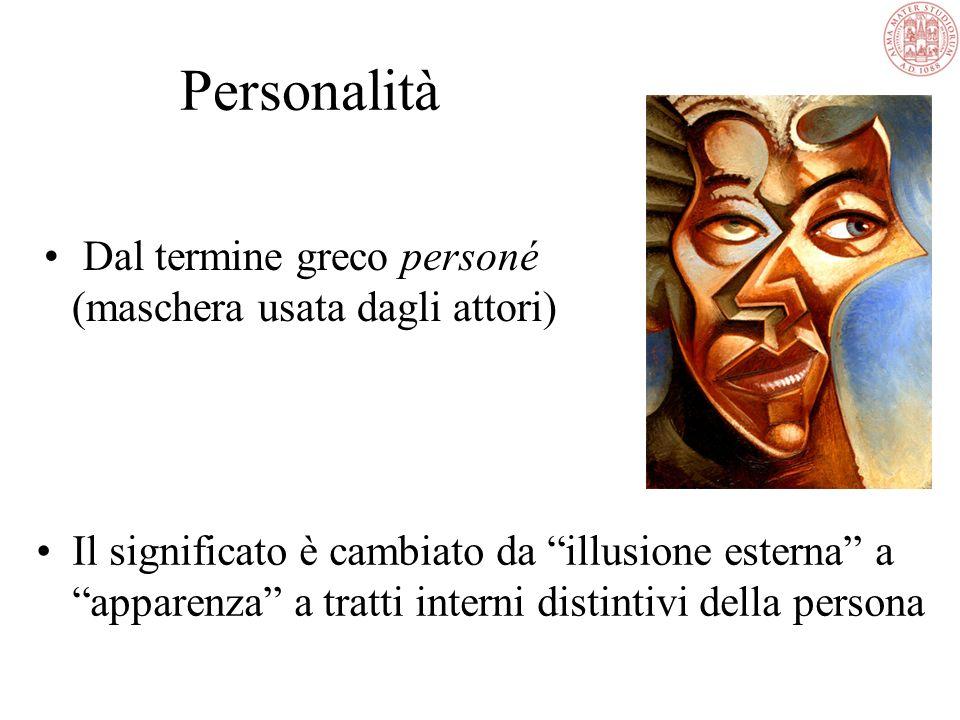 Personalità Dal termine greco personé (maschera usata dagli attori)