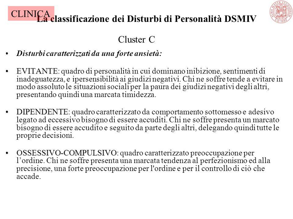 La classificazione dei Disturbi di Personalità DSMIV