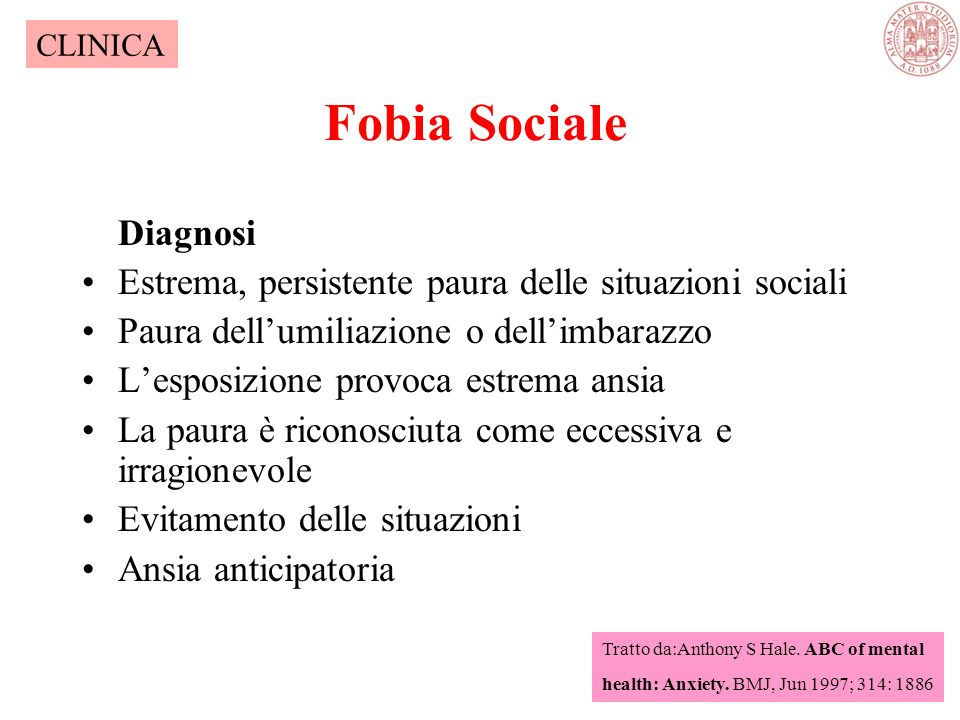 Fobia Sociale Diagnosi