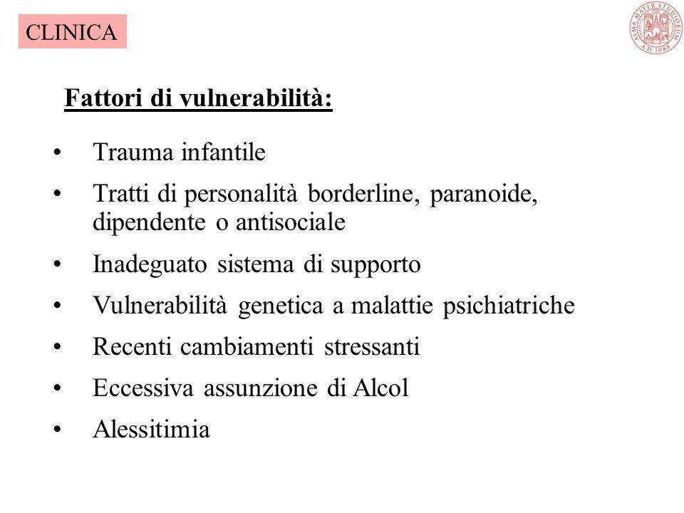 Fattori di vulnerabilità: Trauma infantile