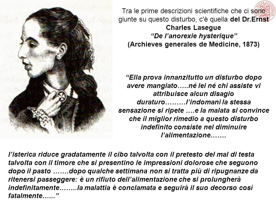 De l'anorexie hysterique (Archieves generales de Medicine, 1873)