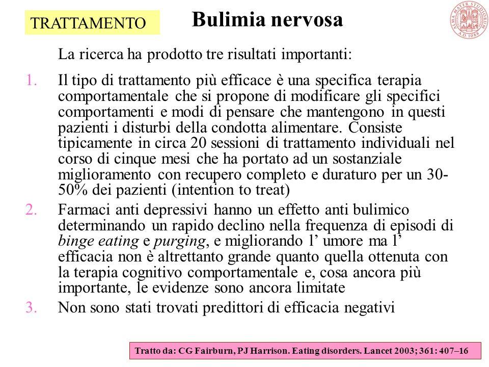 Bulimia nervosa TRATTAMENTO