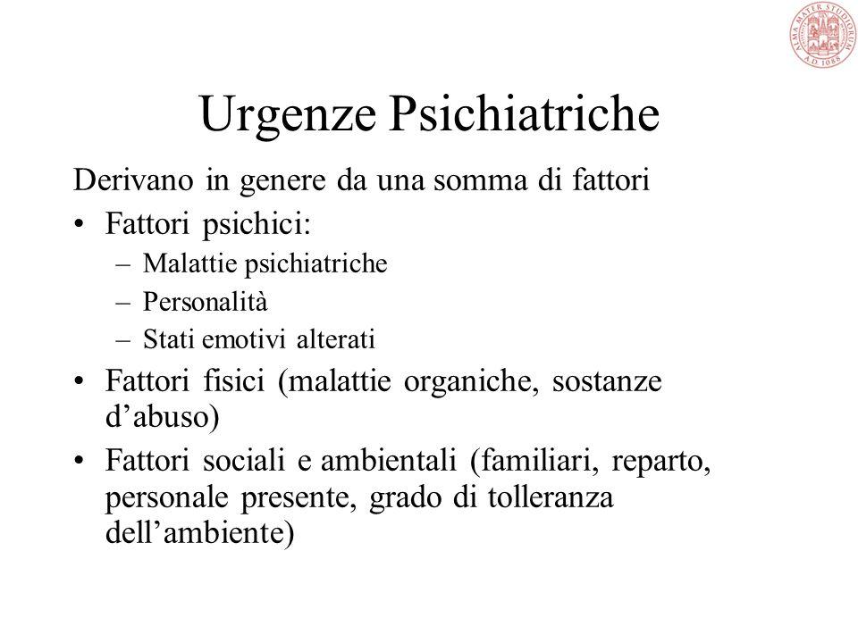 Urgenze Psichiatriche