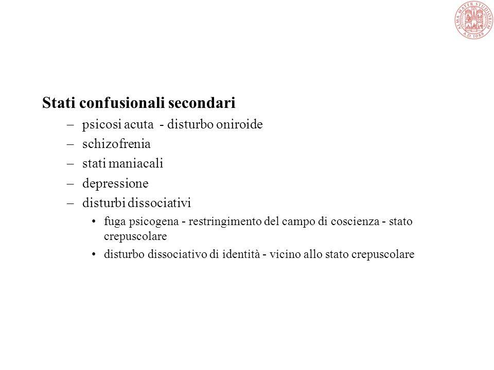 Stati confusionali secondari