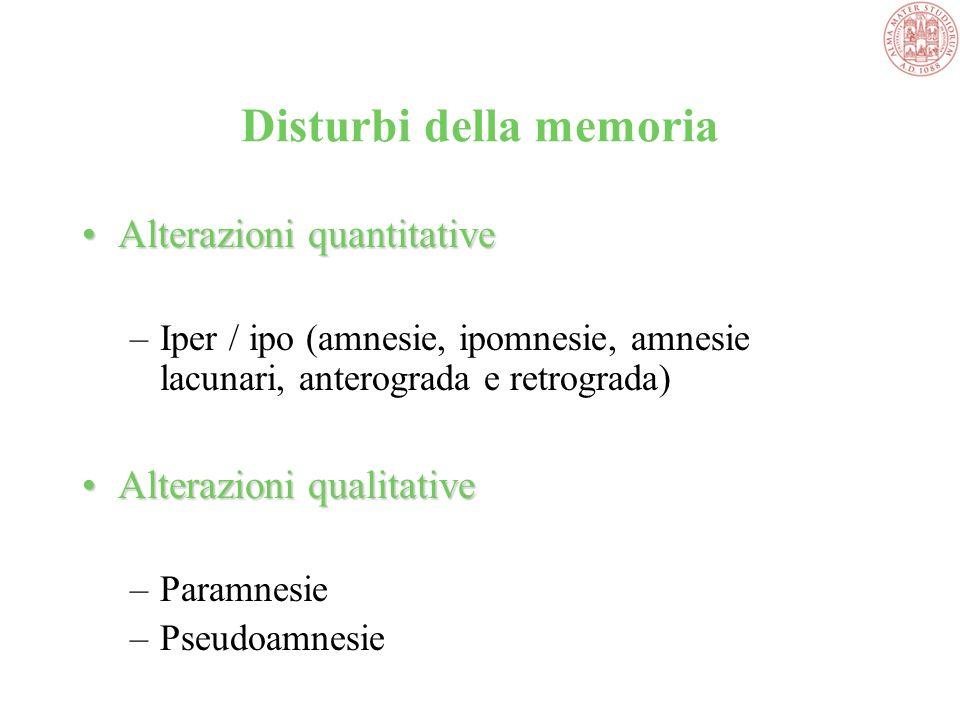 Disturbi della memoria