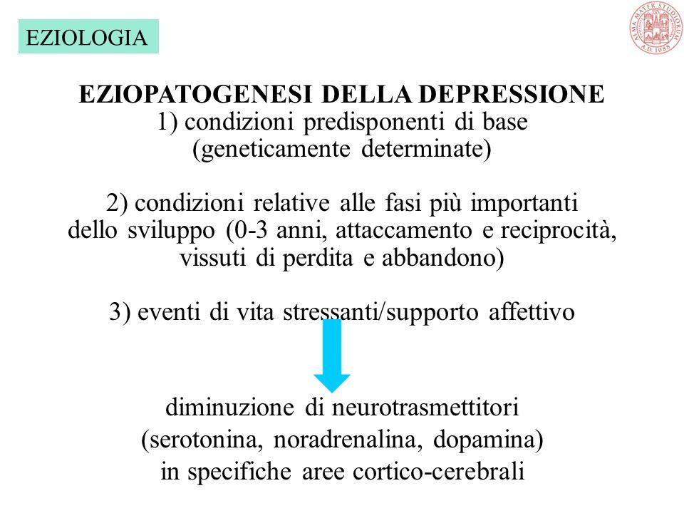 EZIOPATOGENESI DELLA DEPRESSIONE