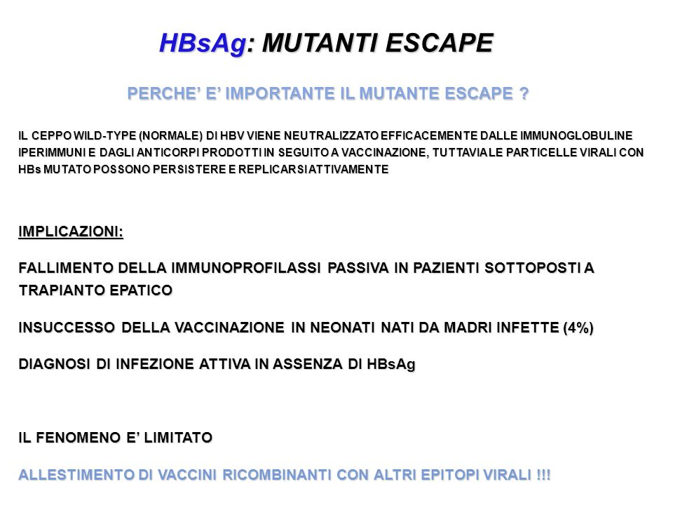PERCHE' E' IMPORTANTE IL MUTANTE ESCAPE
