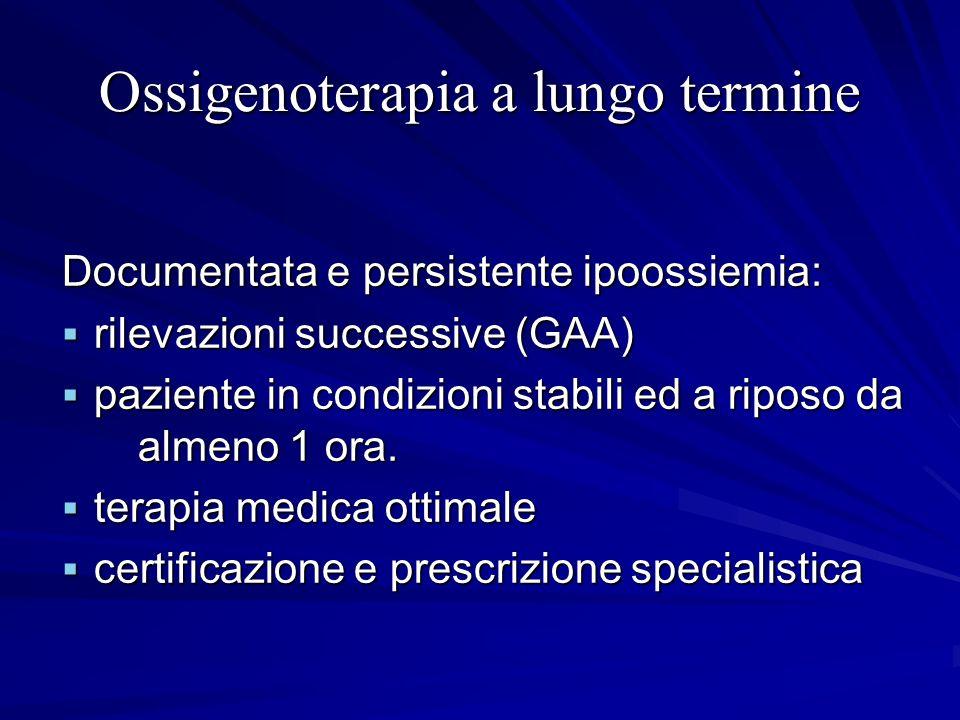 Ossigenoterapia a lungo termine