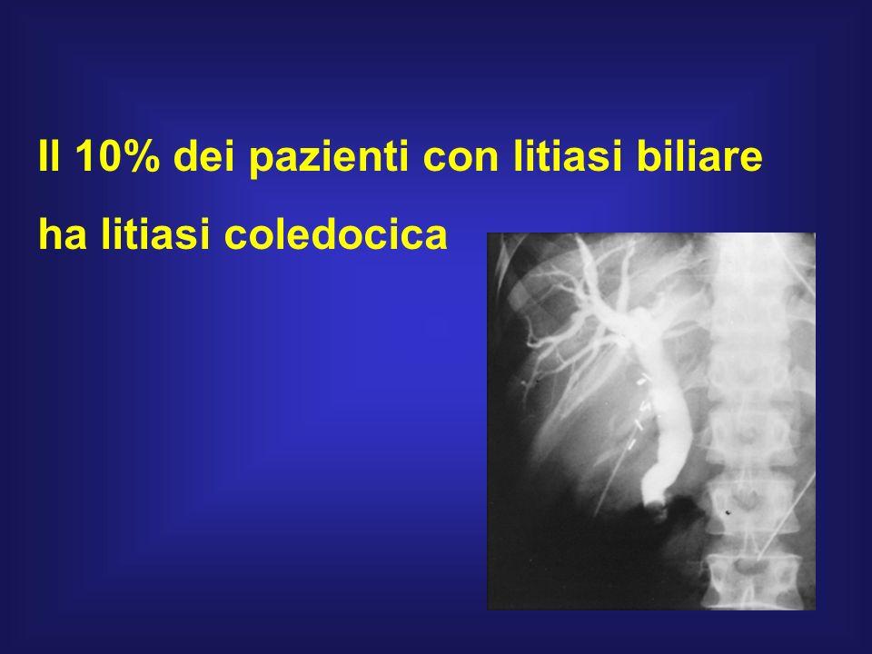 Il 10% dei pazienti con litiasi biliare
