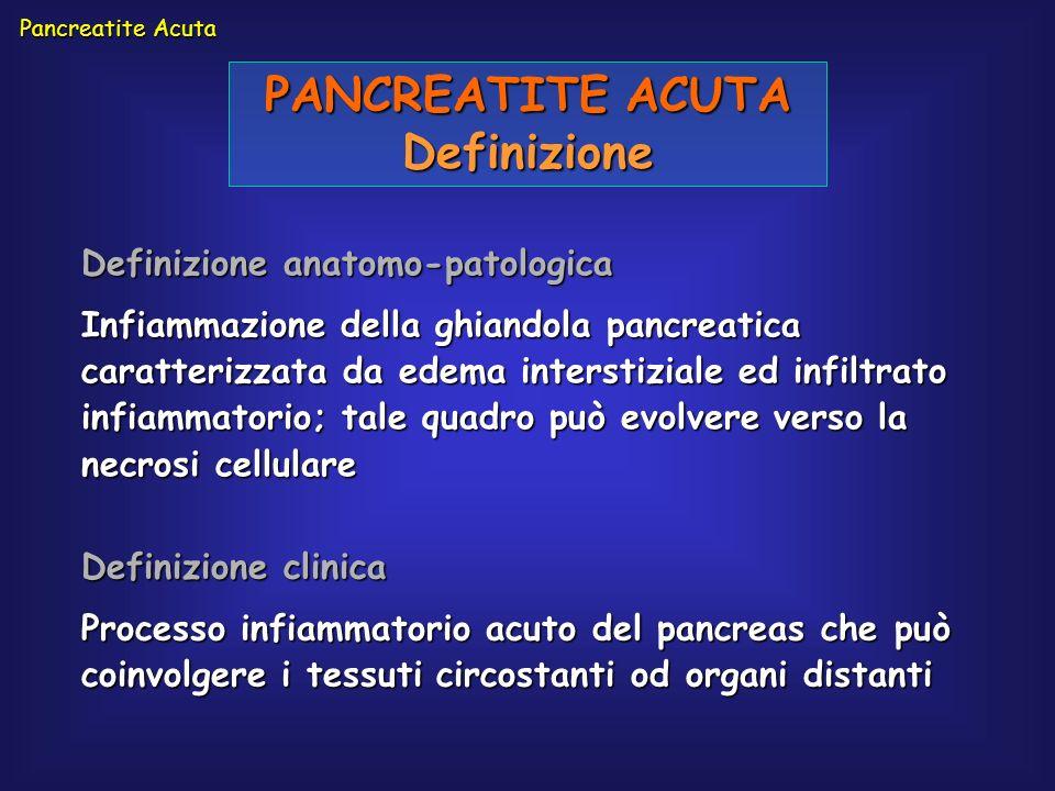 PANCREATITE ACUTA Definizione