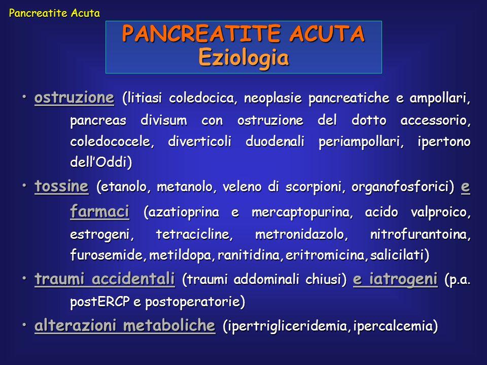 PANCREATITE ACUTA Eziologia