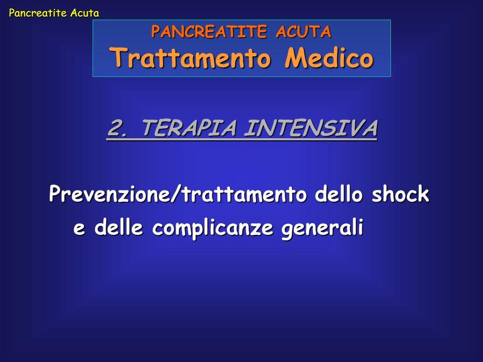 Trattamento Medico 2. TERAPIA INTENSIVA
