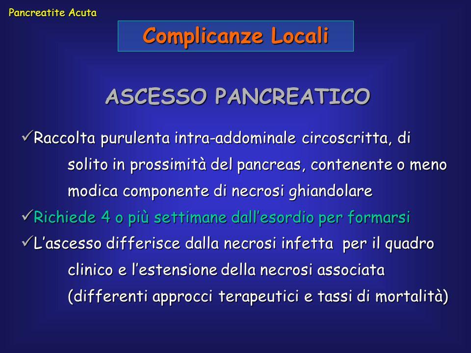 Complicanze Locali ASCESSO PANCREATICO