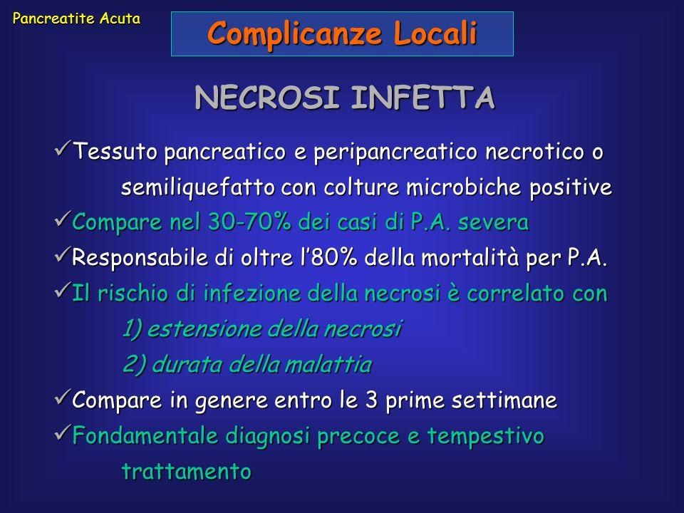 Complicanze Locali NECROSI INFETTA