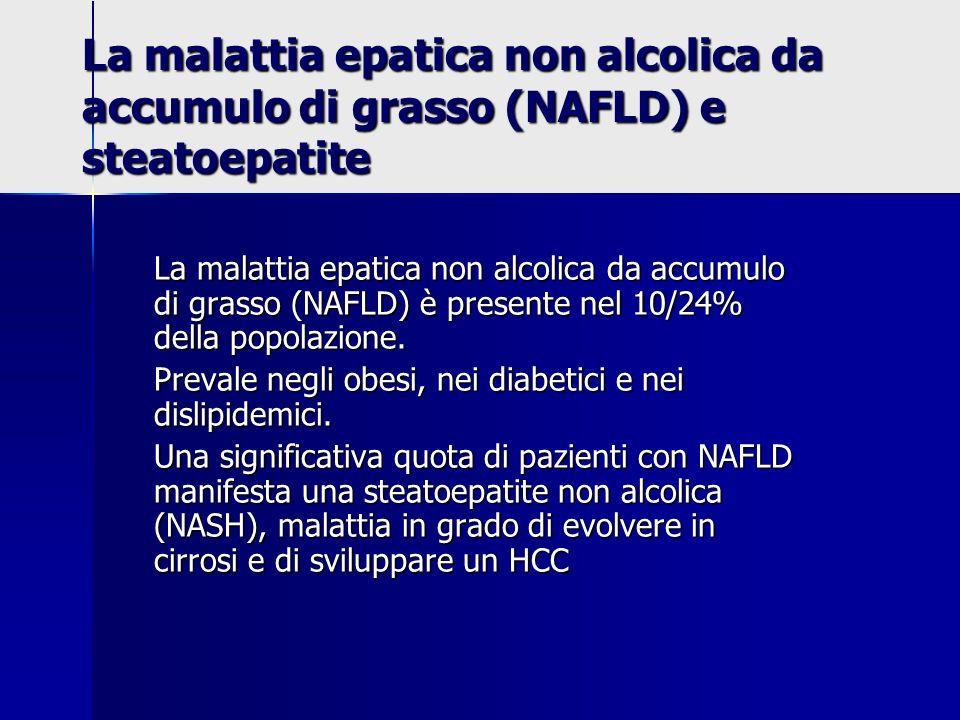 La malattia epatica non alcolica da accumulo di grasso (NAFLD) e steatoepatite