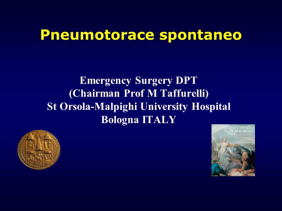Pneumotorace spontaneo
