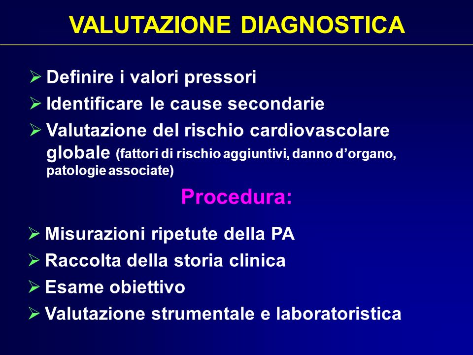 VALUTAZIONE DIAGNOSTICA