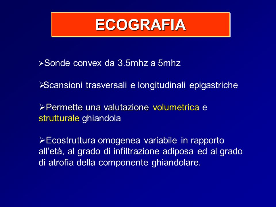 ECOGRAFIA Scansioni trasversali e longitudinali epigastriche