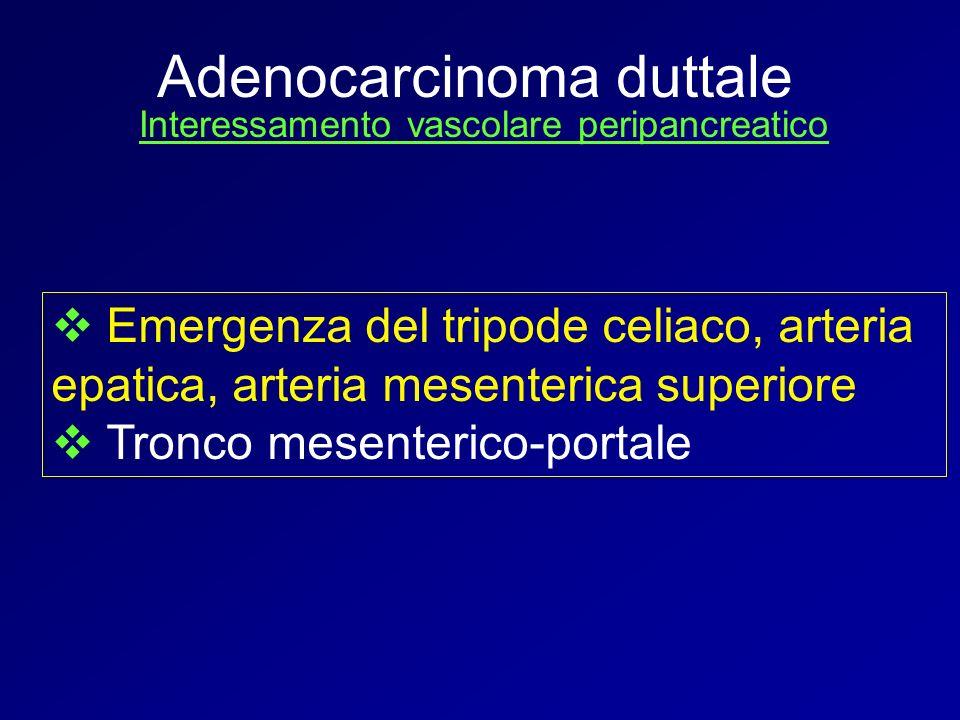 Interessamento vascolare peripancreatico