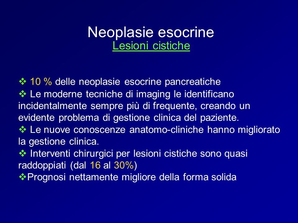Neoplasie esocrine Lesioni cistiche