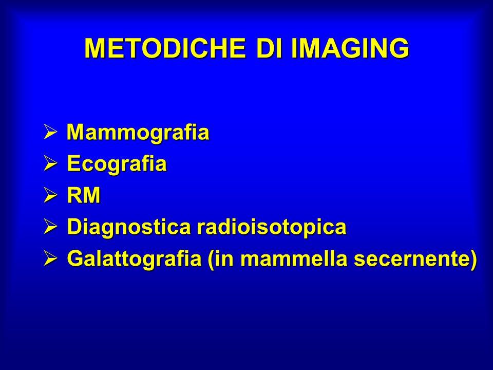 METODICHE DI IMAGING Mammografia Ecografia RM