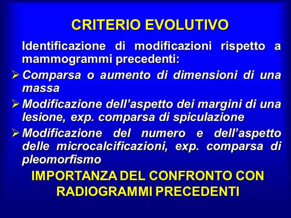 IMPORTANZA DEL CONFRONTO CON RADIOGRAMMI PRECEDENTI