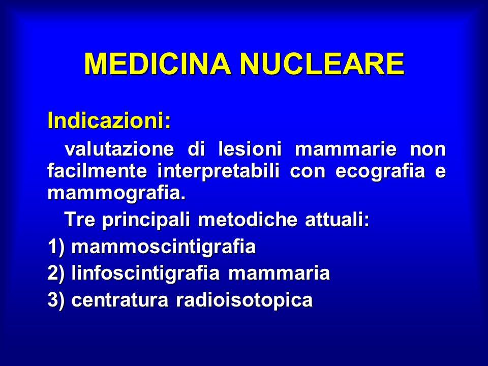 MEDICINA NUCLEARE Indicazioni: