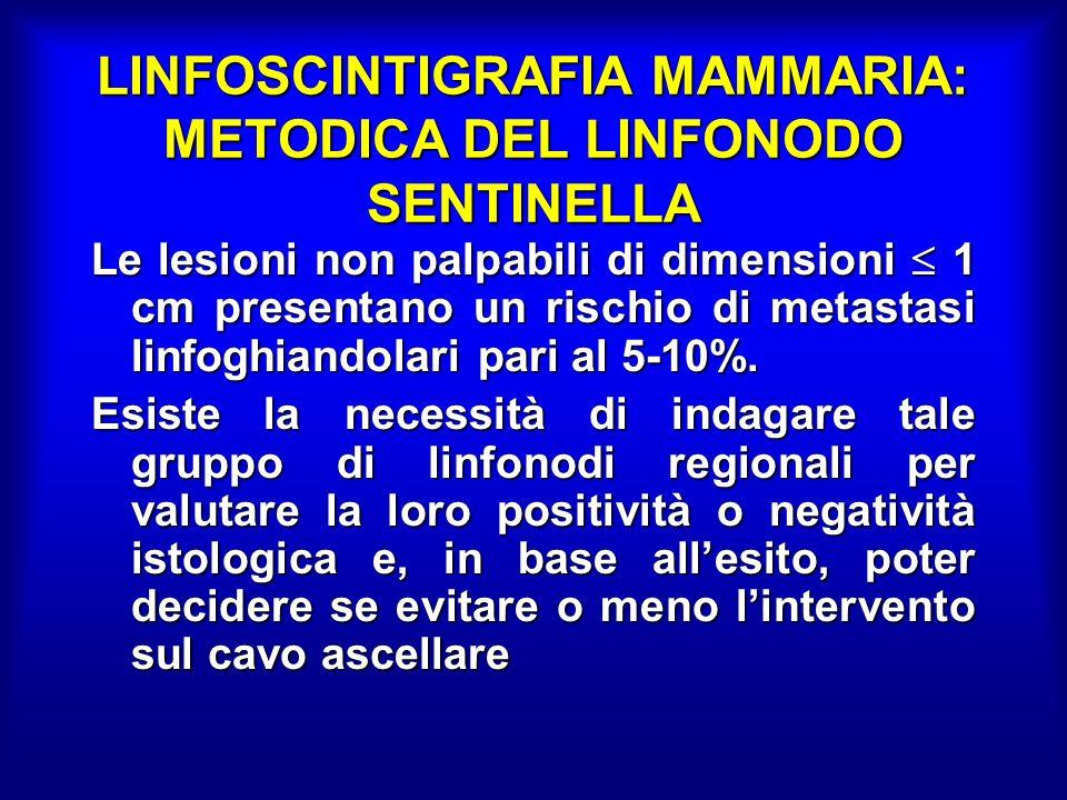 LINFOSCINTIGRAFIA MAMMARIA: METODICA DEL LINFONODO SENTINELLA