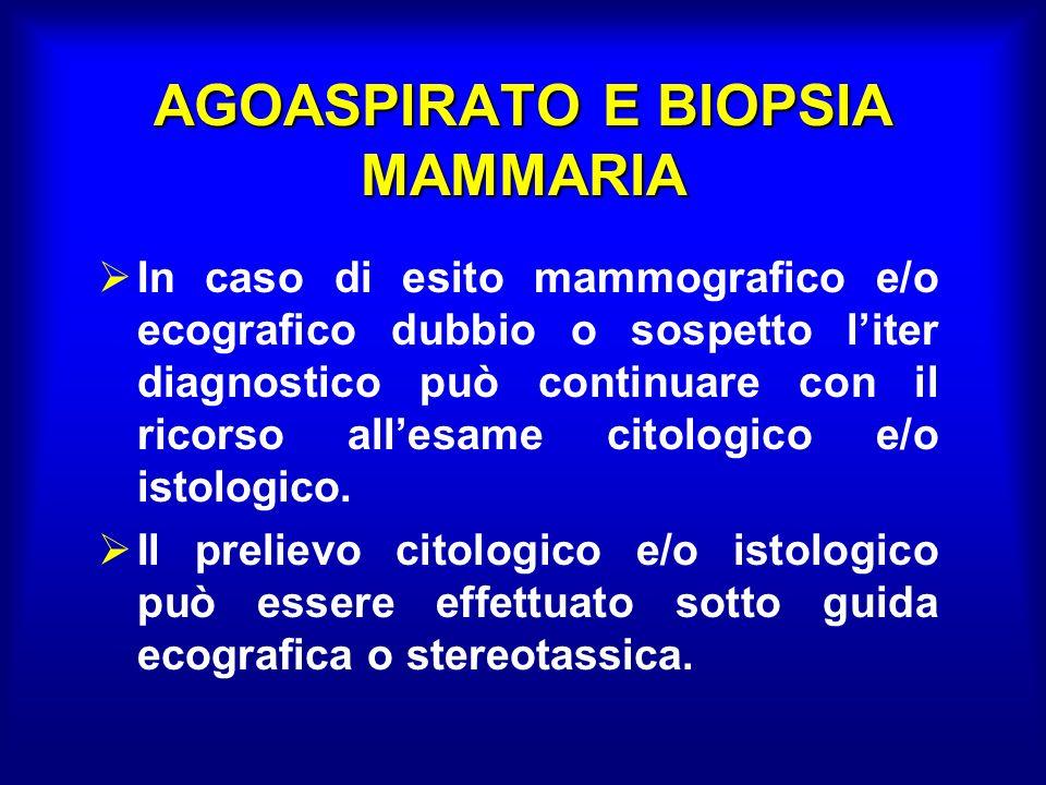 AGOASPIRATO E BIOPSIA MAMMARIA