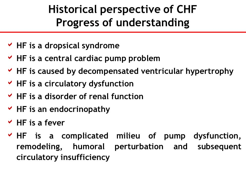 Historical perspective of CHF Progress of understanding