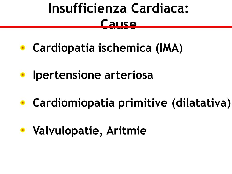 Insufficienza Cardiaca: Cause