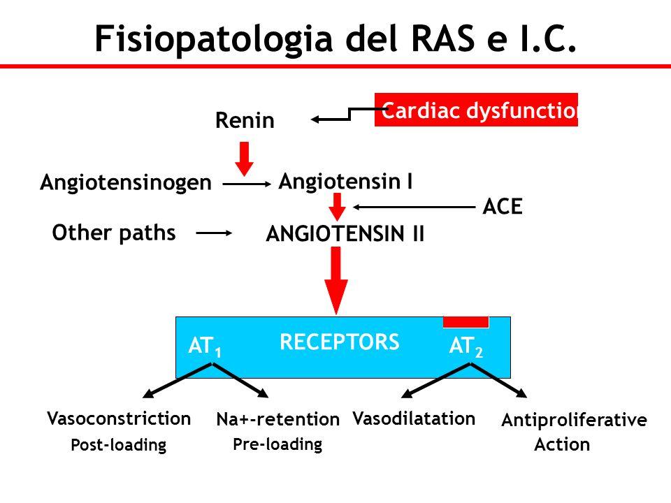 Fisiopatologia del RAS e I.C. Angiotensin I ANGIOTENSIN II