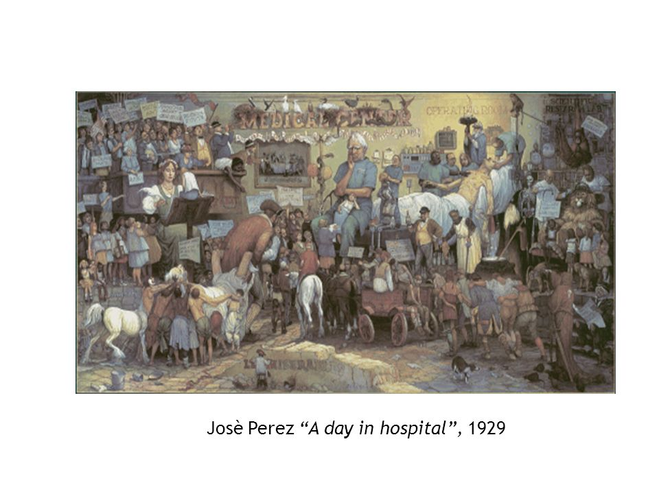 Josè Perez A day in hospital , 1929