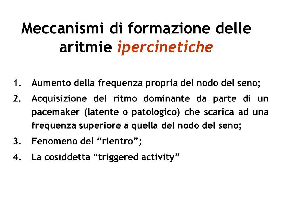 Meccanismi di formazione delle aritmie ipercinetiche