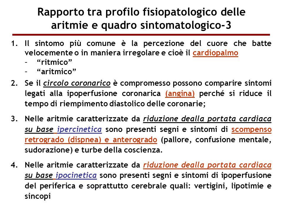Rapporto tra profilo fisiopatologico delle aritmie e quadro sintomatologico-3
