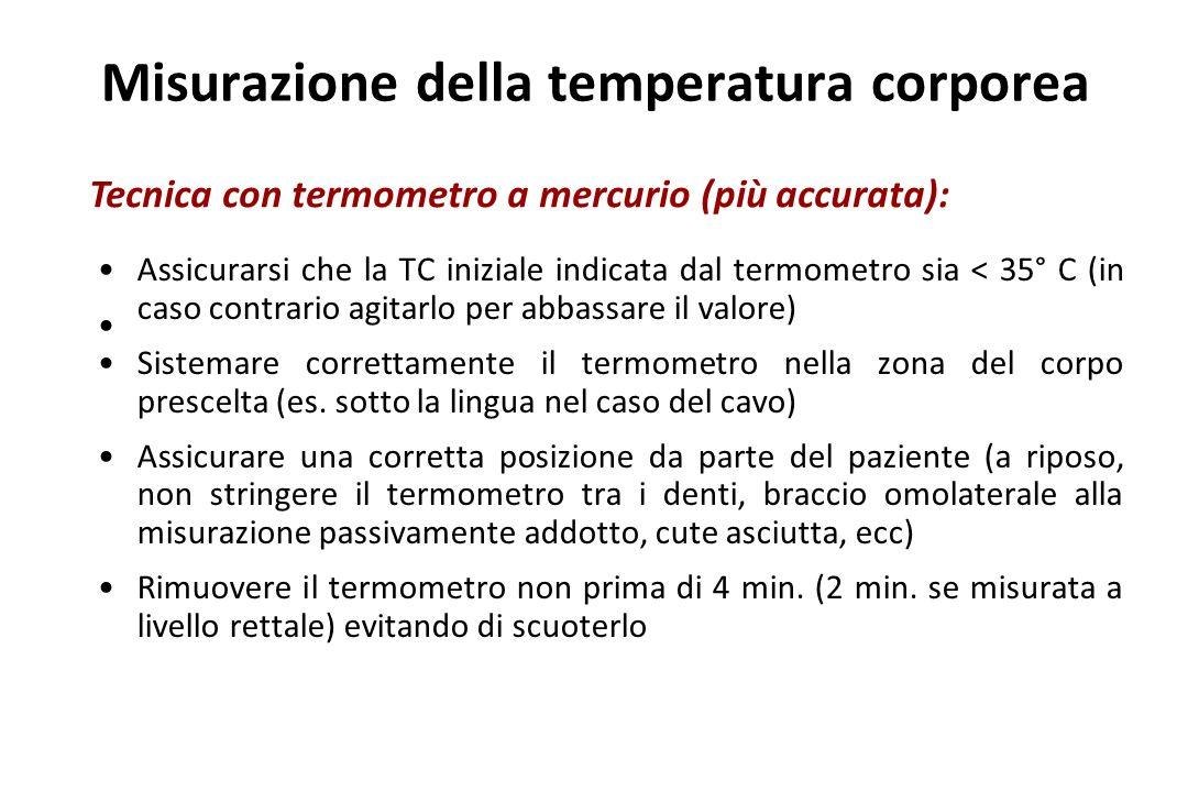 Misurazione della temperatura corporea