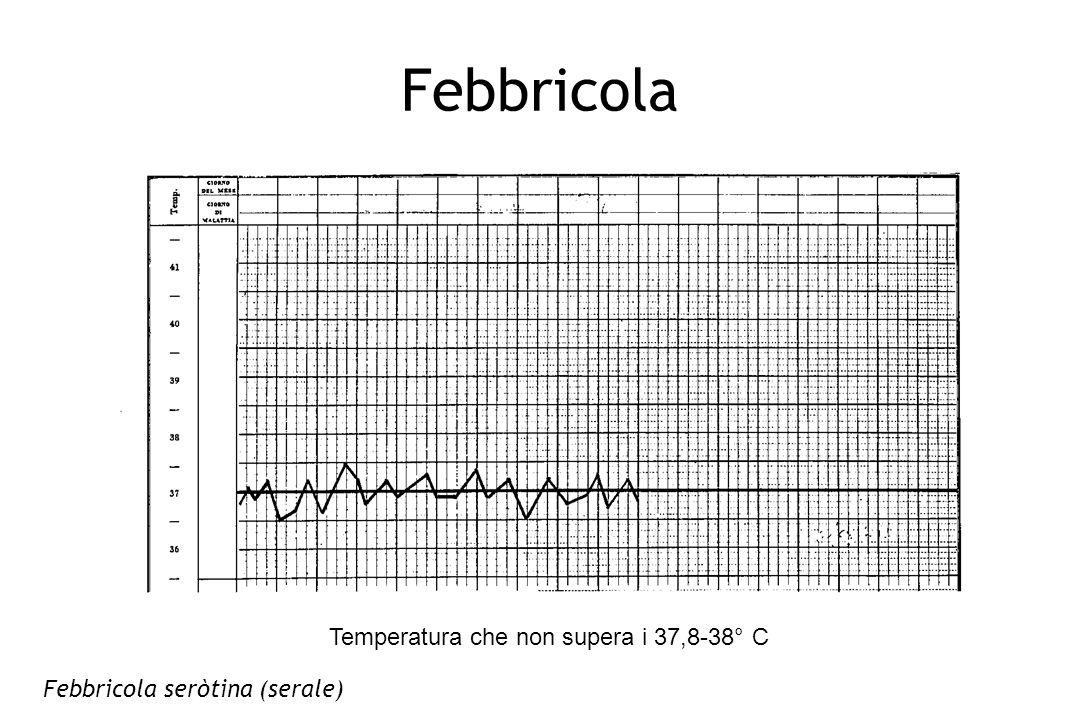 Febbricola Temperatura che non supera i 37,8-38° C