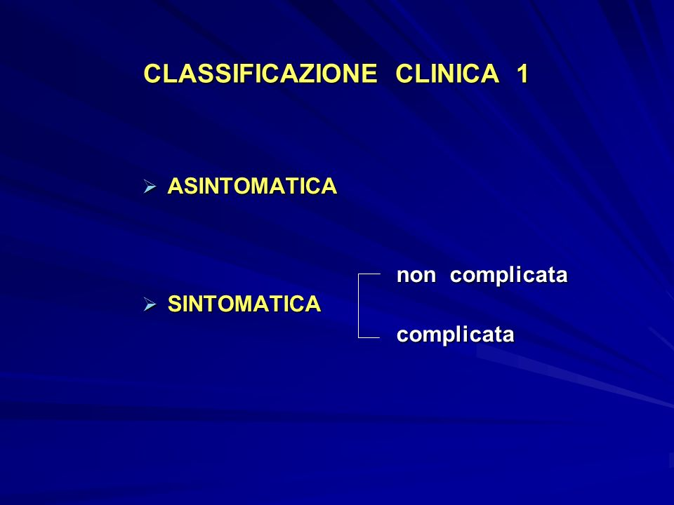 CLASSIFICAZIONE CLINICA 1